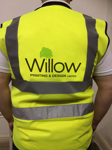 Promotional Branded Company Hi Vis Vest, personalised with company details