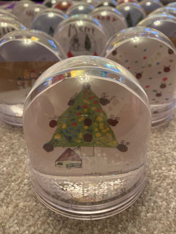 Personalised Snow Globe with Child's Drawing School & Nursery Christmas Fundraiser
