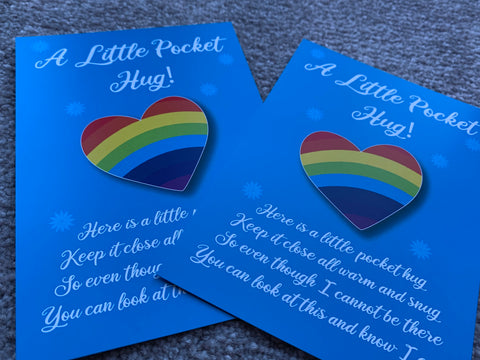 A Little Pocket Hug Card to Show Someone You Care During Isolation