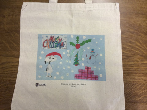 Personalised Bag for Life with Child's Drawing for School or Nursery Christmas Fundraising