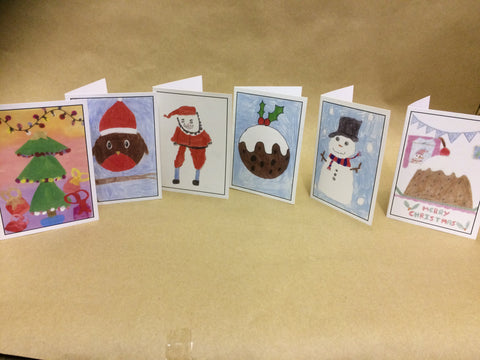 Personalised Christmas Cards with Child's Drawing School & Nursery Christmas Fundraiser