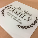"""Everything's Better"" Glass Chopping Board, Placemats and Coasters for Family & Friends"