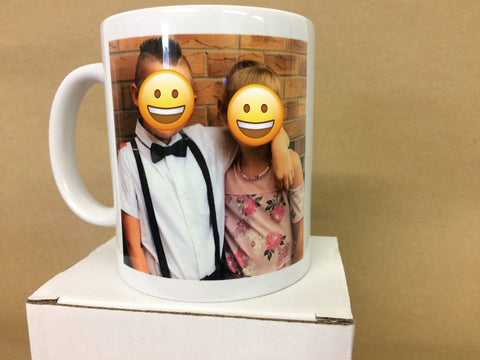 Personalised Your Photo and You Personal Message Mug & White Gift Box