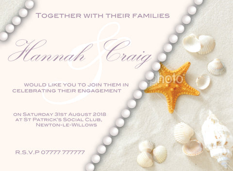 INV002 - Beach Themed Invite - Birthday, Wedding, Beach Party
