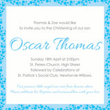 INV032 - Border Design, Birth Announcement, Christening, God Parent Invite