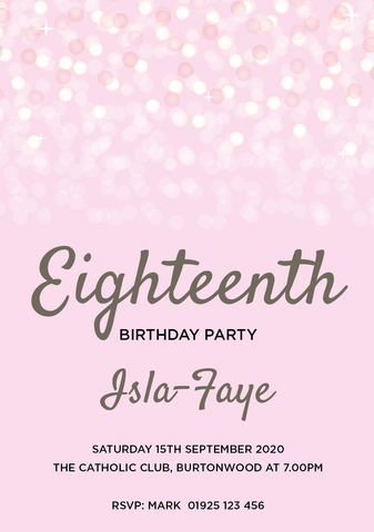 INV046 - Bubble Birthday Invite
