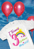 I Turned Age in Lockdown Birthday Month T Shirts for Adults and Children - Covid 19