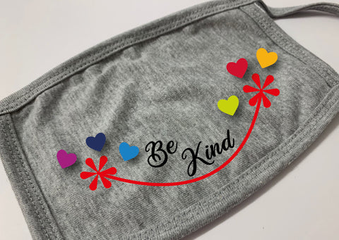 Covid 19 CR911 Personalised Be Kind Face Masks / Coverings for Adults & Children
