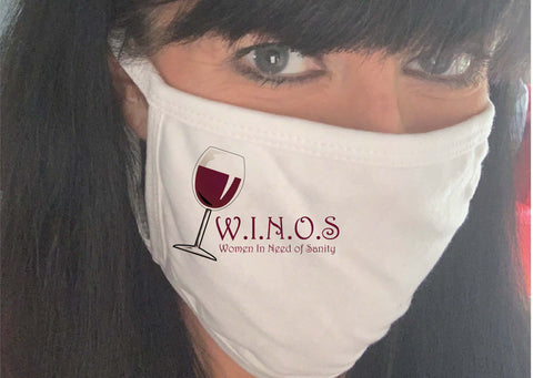 Covid 19 Women in Need of Wine Face Masks / Coverings for Mums
