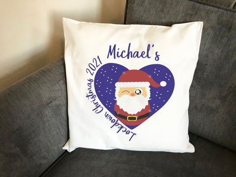 Lockdown Christmas 2021 Cushion Cover & Inner Personalised with Cute Santa - Cover 19 Design