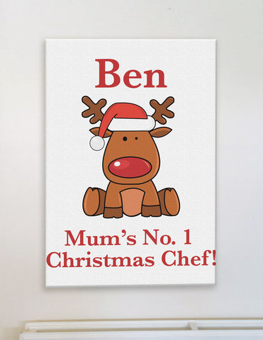 CA03 - Christmas Personalised Cooking Personalised Canvas Print