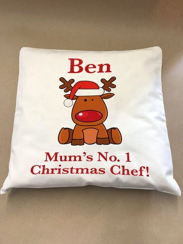 CA03 - Christmas Personalised Cooking Canvas Cushion Cover
