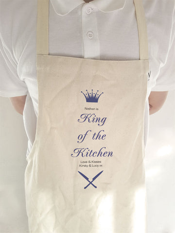 CA18 - Personalised (Name) King of the BBQ Apron