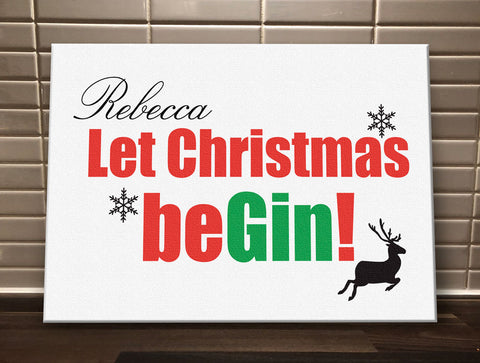 CA17 - Let Christmas be-Gin Canvas Print