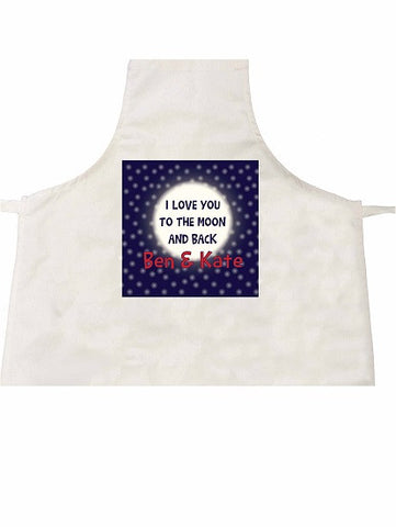 VA11 - I Love You to the Moon and Back (Names) Personalised Apron