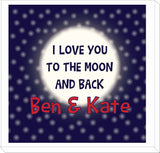 VA11 - I Love You to the Moon and Back (Names) Personalised Canvas Print