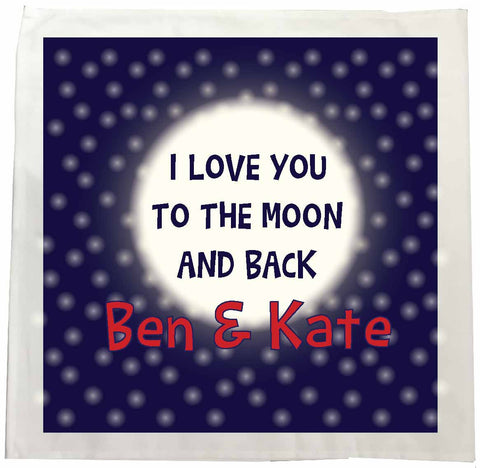 VA11 - I Love You to the Moon and Back (Names) Personalised Tea Towel