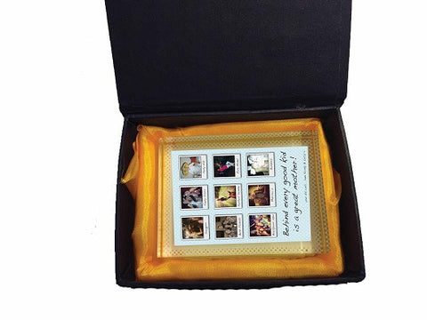 MD01 - Behind Every Good Kid Personalised Crystal Block with Presentation Gift Box