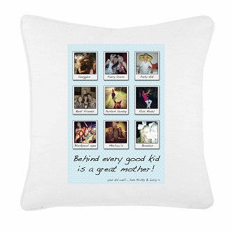 Behind Every Good Kid Personalised Your Photos Cushion Cover