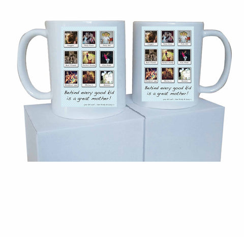 MD01 - Behind Every Good Kid  Personalised Mug & White Gift Box