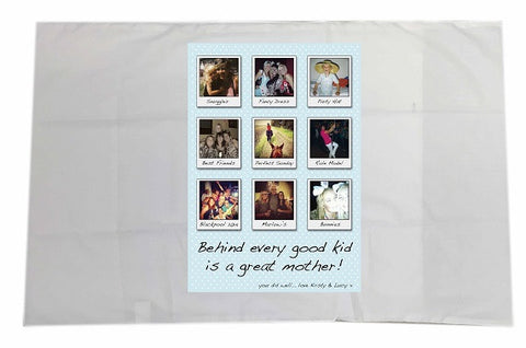 MD01 - Behind Every Good Kid Personalised White Pillow Case Cover