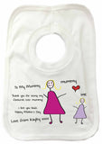 MO01 - Child's Message & Drawing Personalised Baby Bib
