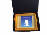 MO03 - Loves You This Much Personalised Crystal Block with Presentation Gift Box