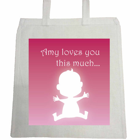 MO03 - Loves You This Much Personalised Canvas Bag for Life