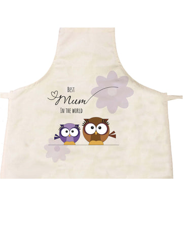 MO05 - Owl Mother's Day Personalised Apron