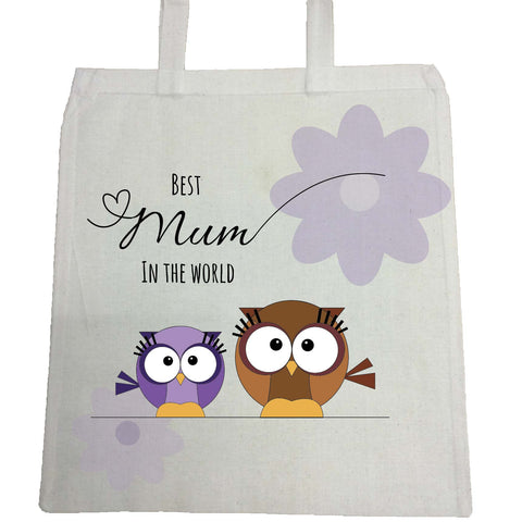 MO05 - Owl Mother's Day Personalised Canvas Bag for Life