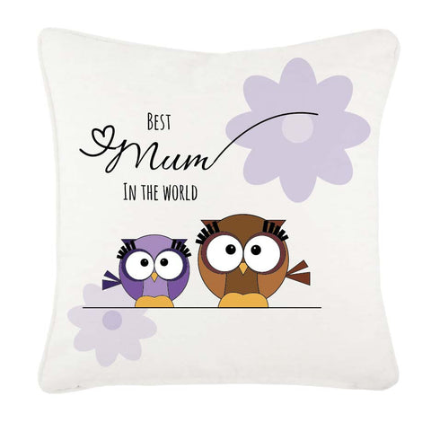 MO05 - Owl Mother's Day Personalised Cushion Cover