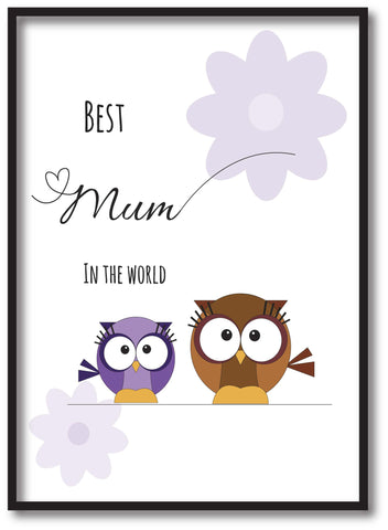 MO05 - Owl Mother's Day Personalised Print