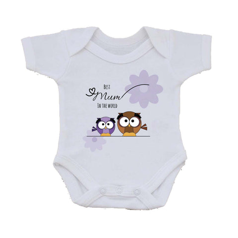 MO05 - Owl Mother's Day Personalised Baby Vest