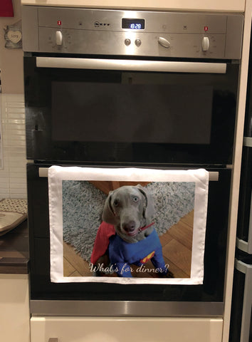 Personalised Tea Towel with any photo of your choice. Unique gift for family & friends