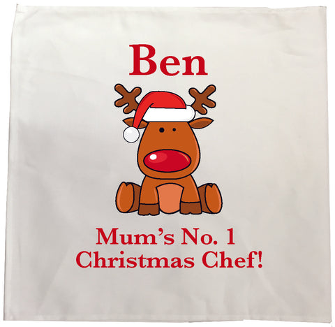 CA03 - Christmas Personalised Cooking Tea Towel