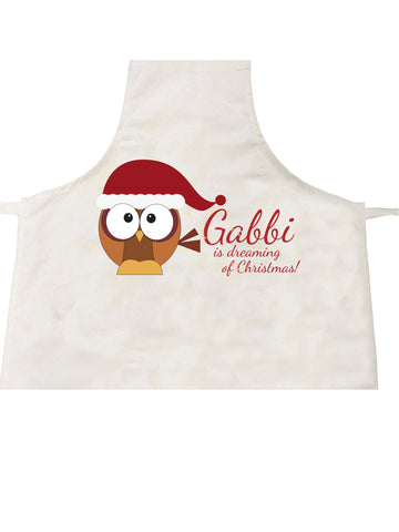 PC01 - (Your Name) Is Dreaming Of Christmas Personalised Apron