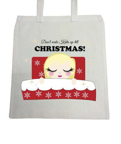 PC02 - Don't Wake (Name) Until Christmas Personalised Canvas Bag for Life