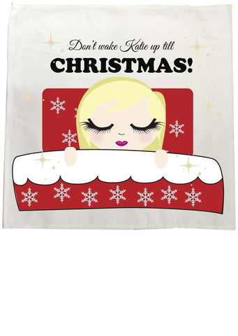 PC02- Don't Wake (Name) Until Christmas Personalised Tea Towel