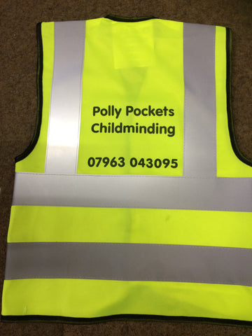 Printed Nursery or Childminding Hi-Vis Vest for Child/Kids - Safety for Children