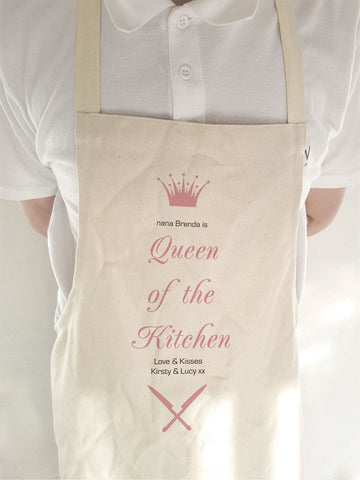 CA19 -  Personalised (Name) Queen of the Kitchen Apron