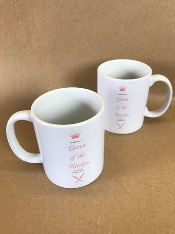CA19 - Personalised (Name) Queen of the Kitchen Mug & White Gift Box