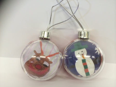Burtonwood CP School Personalised Bauble with Child's Drawing