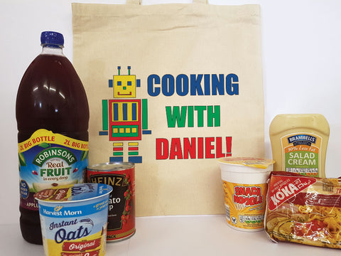 CA10 - Personalised Cooking with (Name) Canvas Bag for Life