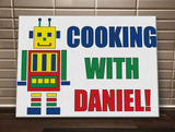 CA10 - Personalised Cooking with (Name) Personalised Canvas Print
