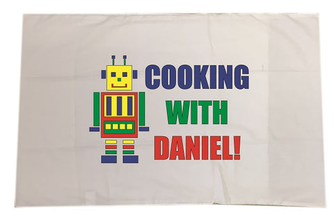 CA10 - Personalised Cooking with (Name) White Pillow Case Cover