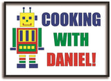 CA10 - Personalised Cooking with (Name) Print