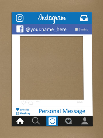 SM04 - Instagram x Facebook Personalised Social Media Frame