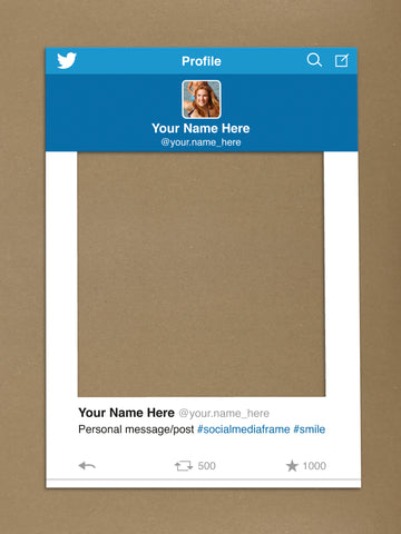 SM06 - Twitter Personalised Social Media Frame