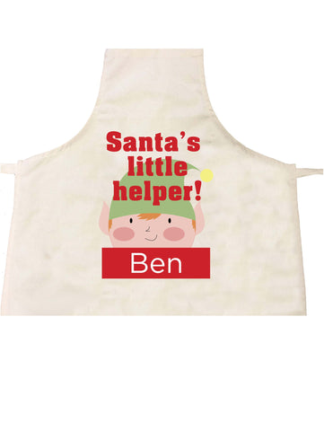 SS08 - Santa's Little Helper Personalised Christmas Apron