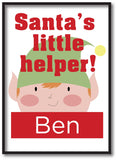 SS08 - Santa's Little Helper Personalised Christmas Print